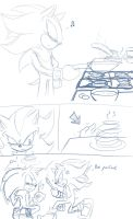 Sonadow short - Pancakes by BlueNeedle-Inu