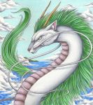 Haku - A river of silver in the sky by Ganjamira
