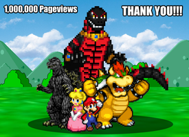 1,000,000 Pageviews by KingAsylus91