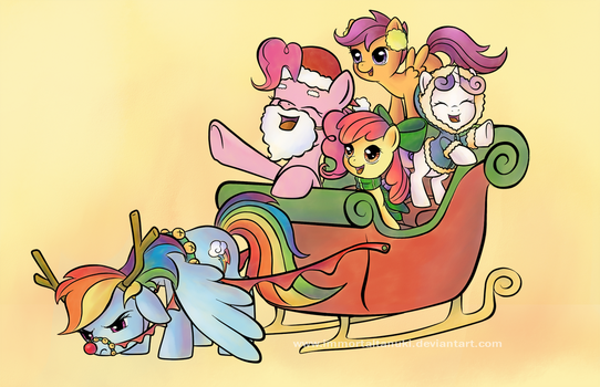 Hearth's Warming Scenes - One Horse Open Sleigh by ImmortalTanuki