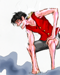 Monkey D. Luffy Gear Second by spriteman1000