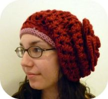 Crochet Puffy Rose Beret by AAMurray