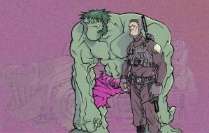 hulk and punisher by flood by whoisrico