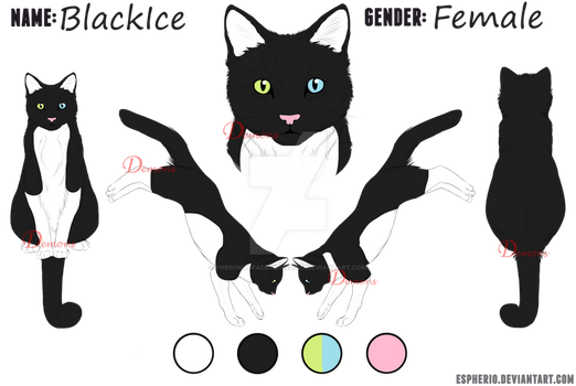 :OC: BlackIce Reference Sheet by TheSongOfADemonsSoul