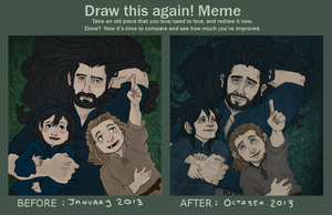 Draw This Again : the Hobbit by LadyNorthstar