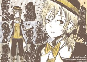 Len Kagamine - Monochrome Dream-Eater by Kheetza