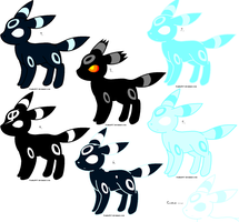Ghostly Umbreon Adopts by MetasActReon