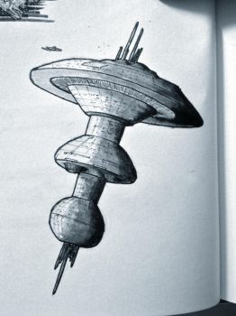 Daily Sketch - Spacedock by Snazz84