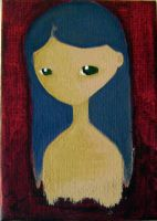 Girl on canvas. 01. by ghehcore