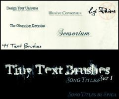 Song Titles Brush Set 1 by NemesisDivina666