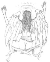The conjuring angel by Asselchen