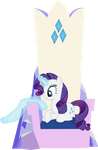 Rarity Polishing Her Throne by The-Queen-Of-Cookies