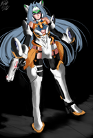 Xenosaga - KOS-MOS ver4 by PeterPrime