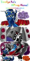 Mpreg Meme Optimus and Megs by murr-miay