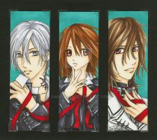 Vampire Knight bookmark set by sariochan