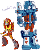 Magnus Rodimus Cheebs by xenotechnophile
