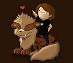 Arcanine and Joey by Kerroh