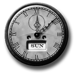 Steampunk Old Clock GreyScale Icon by yereverluvinuncleber