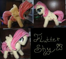 Fluttershy Plush For Sale by IrashiRyuu