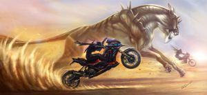 chasing the beast by no1hellangle
