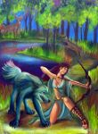 Artemis Goddess of the Hunt by aprilj0313
