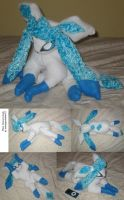 Shiny glaceon plush by teenagerobotfan777