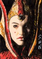Queen Amidala - Sketch Card by J-Redd