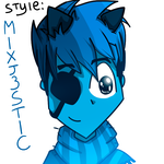 Let's draw in other styles your mixels. No.7 by BlueMoshka