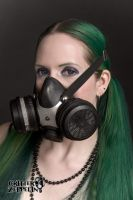 Pigtails and gas mask 2 by godsmistake