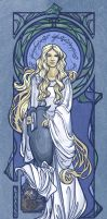 Lady of Light Nouveau by khallion