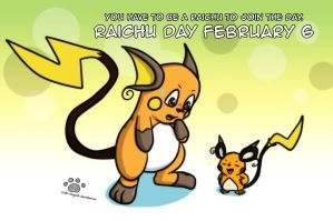 Raichu Day 2014 by Coshi-Dragonite