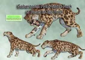 Sabertooth PNG Stock Pack by Roys-Art