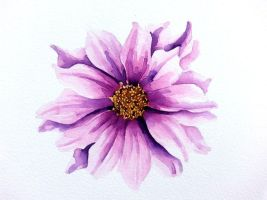 watercolor 4 - dahlia by WonderAiLin