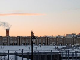 Snowy Hoboken Sunset by Retoucher07030