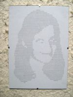 20101105 typewriter drawings portrait by reszko