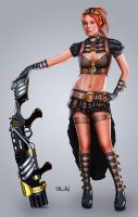 Tante Steampunk by ChekydotStudio
