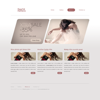 Free PSD and HTML for Christmas GIFT Something new by drunkgopo