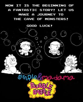 Simple e Madama meets Bubble Bobble by ToraStrife