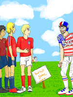 Football Game by beastofbloodgaara