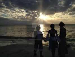 KH: into the sunset by ComicChic19