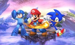 Mario Sonic and Megaman of SSB4 by SondowverDarKRose