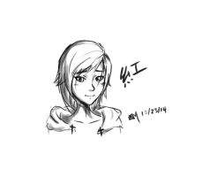 Ruby Rose sketch by A-SgtMichaels