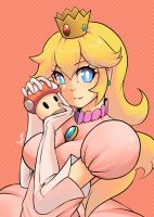 Princess Peach by AzureBladeXIII