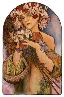 Mucha's Flowers by Niuta71