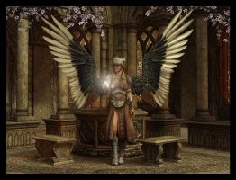 Angel of the Shrine by Everild-Wolfden