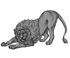 Free Lion Lineart by reviro