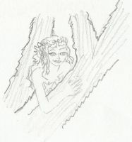 Fairy in a Tree by GretchElise