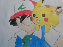 Ash and Pikachu by PokeFan-Alice