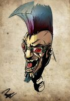 mowhawk and peircing obsession by TheBabman
