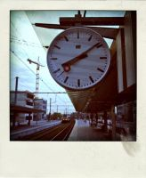 Train station Bruges, Clock by mystery-man
